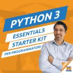 Il logo del gruppo di Python 3: Starter Kit per Imparare a Programmare – Sensei: Mauro Ferro